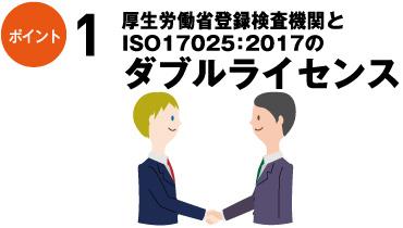 ポイント1:厚生労働省登録検査機関とISO17025:2017のダブルライセンス